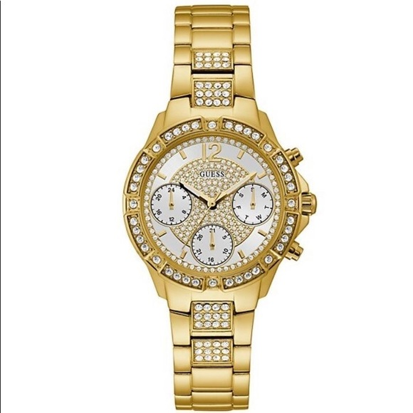 Guess Goldtone Chronograph Watch